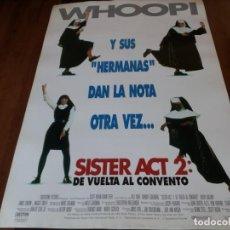 Cine: SISTER ACT 2 DE VUELTA AL CONVENTO - WHOOPI GOLDBERG, LAURYN HILL - POSTER ORIGINAL BUENAVISTA 1993. Lote 236029460