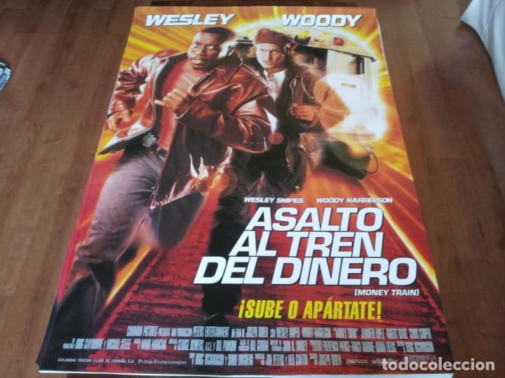 ASALTO AL TREN DEL DINERO - WESLEY SNIPES, WOODY HARRELSON, J. LOPEZ - POSTER ORIGINAL COLUMBIA 1995 (Cine - Posters y Carteles - Acción)