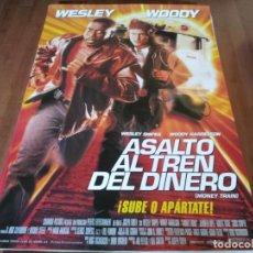 Cine: ASALTO AL TREN DEL DINERO - WESLEY SNIPES, WOODY HARRELSON, J. LOPEZ - POSTER ORIGINAL COLUMBIA 1995. Lote 236029850