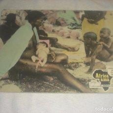 Cine: AFRICA AMA. ALBERTO GRIMALDI . COSTUMBRES SEXUALES DE AFRICA PRIMITIVA , CARTON 38 X 28 CM.. Lote 236053725