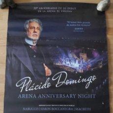 Cine: OPERA: PLACIDO DOMINGO, ARENA ANNIVERSARY NIGHT - APROX 70X100 CARTEL ORIGINAL CINE (L81). Lote 236056530