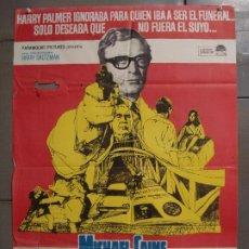 Cine: CDO 8509 FUNERAL EN BERLIN HARRY PALMER MICHAEL CAINE POSTER ORIGINAL 70X100 ESTRENO. Lote 236103160