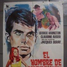 Cine: CDO 8512 EL HOMBRE DE MARRAKECH GEORGE HAMILTON CLAUDINE AUGER POSTER ORIGINAL 70X100 ESTRENO. Lote 236105840