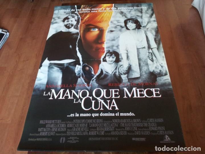 LA MANO QUE MECE LA CUNA - REBECCA DE MORNAY, ANNABELLA SCIORRA - POSTER ORIGINAL WARNER 1992 (Cine - Posters y Carteles - Suspense)