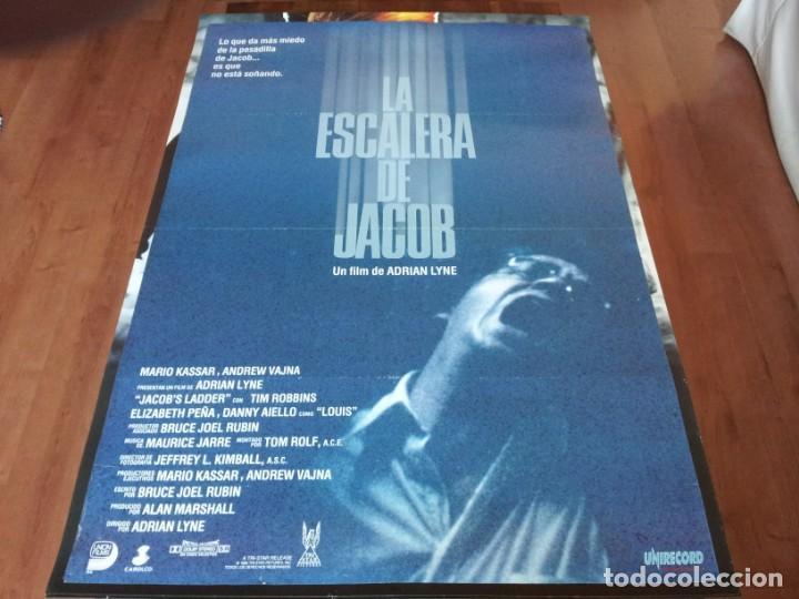 LA ESCALERA DE JACOB - TIM ROBBINS, ELIZABETH PEÑA, DANNY AIELLO - POSTER ORIGINAL UNION 1990 (Cine - Posters y Carteles - Suspense)