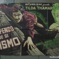 Cine: AAS63 HUYENDO DE SI MISMO JUAN FORTUNY MANUEL MONROY THAMAR POSTER ORIG ESTRENO 70X100 LITOGRAFIA. Lote 236131120