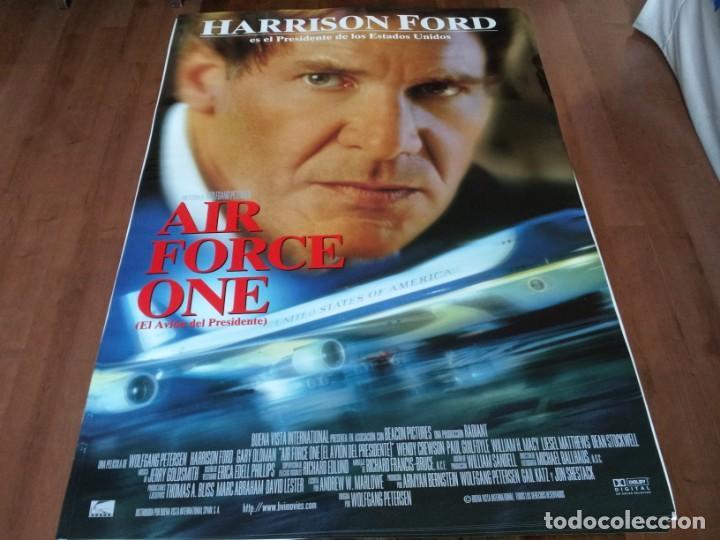 AIR FORCE ONE - HARRISON FORD, GARY OLDMAN, GLENN CLOSE - POSTER ORIGINAL BUENAVISTA 1997 (Cine - Posters y Carteles - Acción)