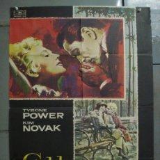 Cine: AAS65 EDDY DUCHIN TYRONE POWER KIM NOVAK MAC POSTER ORIGINAL 70X100 ESTRENO. Lote 236134345