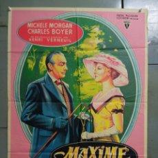 Cine: AAS73 MAXIME MICHELE MORGAN CHARLES BOYER ARLETTY SOLIGO POSTER ORIGINAL ESTRENO 70X100 LITOGRAFIA. Lote 236147355