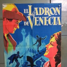 Cine: AAS75 EL LADRON DE VENECIA MARIA MONTEZ SOLIGO POSTER ORIGINAL 70X100 ESTRENO LITOGRAFIA. Lote 236149055