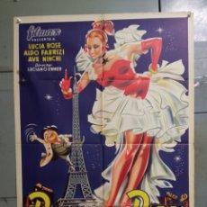 Cine: AAS76 PARIS SIEMPRE PARIS LUCIA BOSE POSTER ORIGINAL 70X100 ESTRENO LITOGRAFIA. Lote 236149630