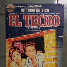 Cine: AAS78 EL TECHO VITTORIO DE SICA JANO POSTER ORIGINAL ESTRENO 70X100 LITOGRAFIA. Lote 236150720