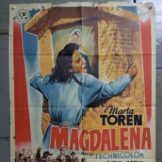 Cine: AAS79 MAGDALENA MARTA TOREN GINO CERVI JACQUES SERNAS POSTER ORIGINAL 70X100 ESTRENO LITOGRAFIA. Lote 236151385