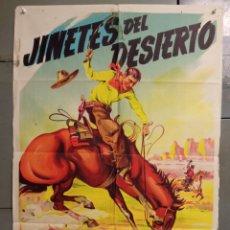 Cine: AAS81 JINETES DEL DESIERTO BOB STEELE SOLIGO POSTER ORIGINAL 70X100 ESTRENO LITOGRAFIA. Lote 236152855