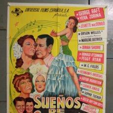 Cine: AAS82 SUEÑOS DE GLORIA CARMEN AMAYA MARLENE DIETRICH MACDONALD POSTER ORIG ESTRENO 70X100. Lote 236153340