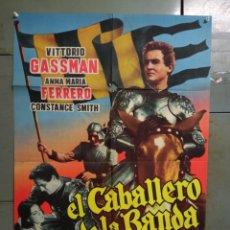 Cine: AAS83 EL CABALLERO DE LA BANDA NEGRA VITTORIO GASSMAN POSTER ORIGINAL 70X100 ESTRENO. Lote 236153870