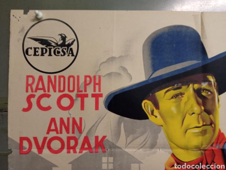 Cine: AAS86 LA CALLE DE LOS CONFLICTOS RANDOLPH SCOTT RAMON POSTER ORIGINAL ESTRENO 70X100 LITOGRAFIA - Foto 2 - 236155335