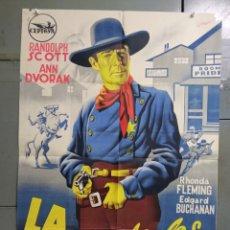 Cine: AAS86 LA CALLE DE LOS CONFLICTOS RANDOLPH SCOTT RAMON POSTER ORIGINAL ESTRENO 70X100 LITOGRAFIA. Lote 236155335