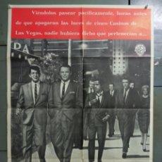 Cine: AAS92 LA CUADRILLA DE LOS ONCE FRANK SINATRA RAT PACK POSTER ORIGINAL 70X100 ESTRENO A. Lote 236160285