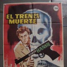 Cine: CDO 8518 EL TREN DE LA MUERTE ROGER HANIN POSTER ORIGINAL 70X100 ESTRENO. Lote 236174230
