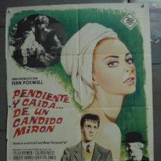 Cine: CDO 8519 PENDIENTE Y CAIDA DE UN CANDIDO MIRON GENEVIEVE PAGE POSTER ORIGINAL 70X100 ESTRENO. Lote 236175560