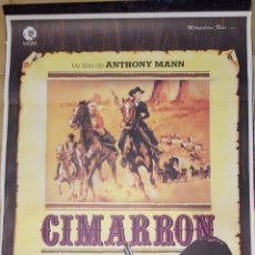 Cine: CARTEL DE CINE - CIMARRON - 70X100 - 1960. Lote 236176075