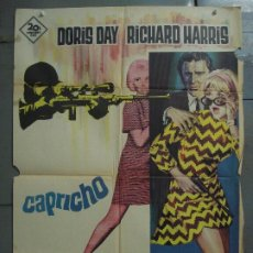 Cine: CDO 8521 CAPRICHO DORIS DAY RICHARD HARRIS ALBERICIO POSTER ORIGINAL 70X100 ESTRENO. Lote 236178375