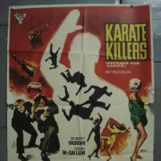 Cine: CDO 8525 KARATE KILLERS AGENTE DE CIPOL ROBERT VAUGHN POSTER ORIGINAL 70X100 ESTRENO. Lote 236195715