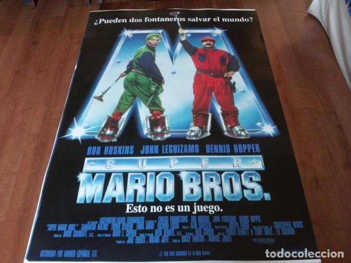 SUPER MARIO BROS - BOB HOSKINS, DENNIS HOPPER, JOHN LEGIZAMO - POSTER ORIGINAL WARNER AÑO 1993 MOD 2 (Cine - Posters y Carteles - Infantil)