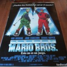 Cine: SUPER MARIO BROS - BOB HOSKINS, DENNIS HOPPER, JOHN LEGIZAMO - POSTER ORIGINAL WARNER AÑO 1993 MOD 2. Lote 236209765