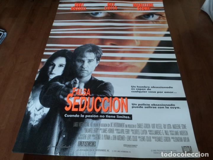FALSA SEDUCCIÓN - KURT RUSSELL, MADELEINE STOWE, RAY LIOTTA - POSTER ORIGINAL FOX 1992 (Cine - Posters y Carteles - Suspense)