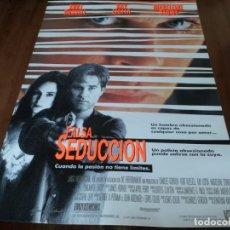 Cine: FALSA SEDUCCIÓN - KURT RUSSELL, MADELEINE STOWE, RAY LIOTTA - POSTER ORIGINAL FOX 1992. Lote 236217985