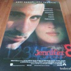 Cine: JENNIFER 8 - ANDY GARCÍA, UMA THURMAN, JOHN MALKOVICH, LANCE HENRIKSEN - POSTER ORIGINAL U.I.P 1992. Lote 236218345