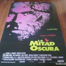 Cine: LA MITAD OSCURA - TIMOTHY HUTTON, AMY MADIGAN,GEORGE A. ROMERO - POSTER ORIGINAL COLUMBIA 1993. Lote 236219755