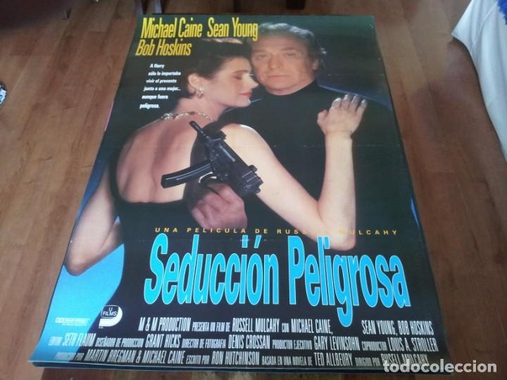 SEDUCCIÓN PELIGROSA - MICHAEL CAINE, SEAN YOUNG, BOB HOSKINS, IAN HOLM - POSTER ORIGINAL UNION 1992 (Cine - Posters y Carteles - Suspense)