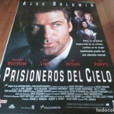 Cine: PRISIONEROS DEL CIELO - ALEC BALDWIN,MARY STUART MASTERSON,KELLY LYNCH - POSTER ORIGINAL FILMAX 1995. Lote 236222145