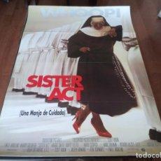 Cine: SISTER ACT UNA MONJA DE CUIDADO - WHOOPI GOLDBERG, MAGGIE SMITH,HARVEY KEITEL - POSTER ORIGINAL 1992. Lote 236222865