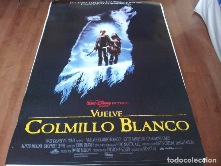 VUELVE COLMILLO BLANCO - SCOTT BAIRSTOW,CHARMAINE CRAIG, ALFRED MOLINA - POSTER ORIGINAL DISNEY 1994 (Cine - Posters y Carteles - Infantil)