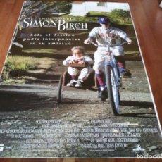 Cine: EL INOLVIDABLE SIMON BIRCH - IAN MICHAEL SMITH, JOSEPH MAZZELLO - POSTER ORIGINAL BUENAVISTA 1998. Lote 236225825