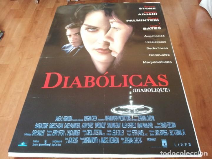 DIABÓLICAS - SHARON STONE, ISABELLE ADJANI, CHAZZ PALMINTERI - POSTER ORIGINAL AURUM 1996 (Cine - Posters y Carteles - Suspense)