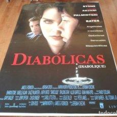 Cine: DIABÓLICAS - SHARON STONE, ISABELLE ADJANI, CHAZZ PALMINTERI - POSTER ORIGINAL AURUM 1996. Lote 236229460