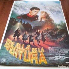 Cine: MÁS ALLÁ DE LA AVENTURA - CHARLIE SHEEN, LESLIE CARON - POSTER ORIGINAL CB FILMS 1990. Lote 236231930