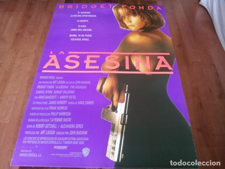 LA ASESINA - BRIDGET FONDA, GABRIEL BYRNE, DERMOT MULRONEY - POSTER ORIGINAL WARNER 1993 (Cine - Posters y Carteles - Acción)