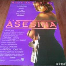 Cine: LA ASESINA - BRIDGET FONDA, GABRIEL BYRNE, DERMOT MULRONEY - POSTER ORIGINAL WARNER 1993. Lote 236232690
