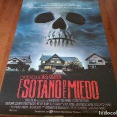 Cine: EL SÓTANO DEL MIEDO - BRANDON QUINTIN, VING RHAMES, WES CRAVEN - POSTER ORIGINAL U.I.P 1991. Lote 236238850