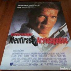 Cine: MENTIRAS ARRIESGADAS - ARNOLD SCHWARZENEGGER, JAMIE LEE CURTIS - POSTER ORIGINAL U.I.P 1994. Lote 236243235