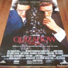 Cine: QUIZ SHOW EL DILEMA - RALPH FIENNES, ROB MORROW, JOHN TURTURRO - POSTER ORIGINAL BUENAVISTA 1994. Lote 236244665
