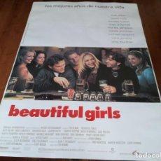 Cine: BEAUTIFUL GIRLS - TIMOTHY HUTTON, UMA THURMAN, MATT DILLON, N. PORTMAN - POSTER ORIGINAL LAUREN 1996. Lote 236246145