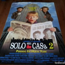 Cine: SOLO EN CASA 2 - MACAULAY CULKIN, JOE PESCI, DANIEL STERN - POSTER ORIGINAL WARNER 1992. Lote 236248320