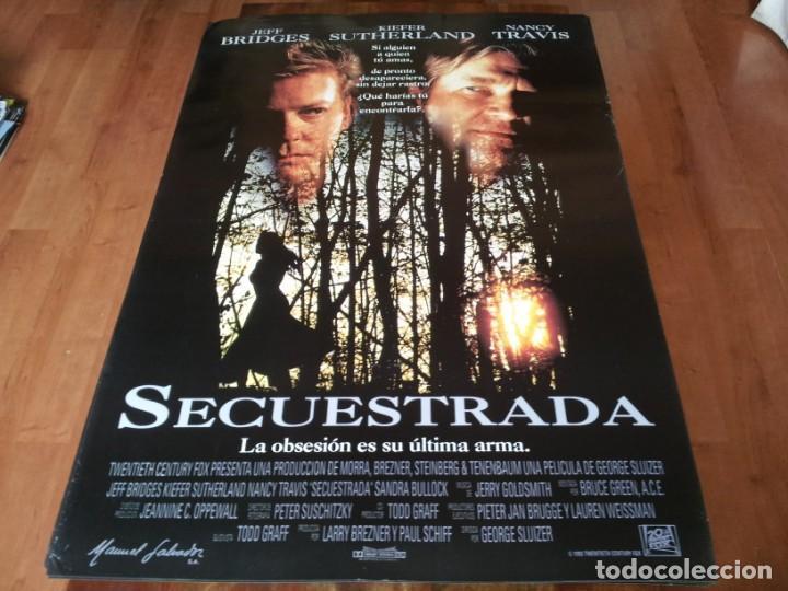 SECUESTRADA - JEFF BRIDGES, KIEFER SUTHERLAND,SANDRA BULLOCK,NANCY TRAVIS - POSTER ORIGINAL FOX 1993 (Cine - Posters y Carteles - Suspense)